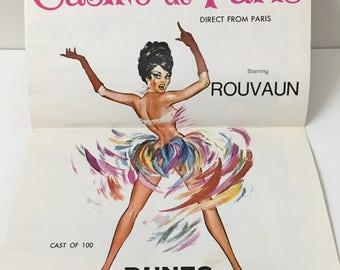 Vintage Las Vegas Dunes Hotel Casino De Paris Program, 1967