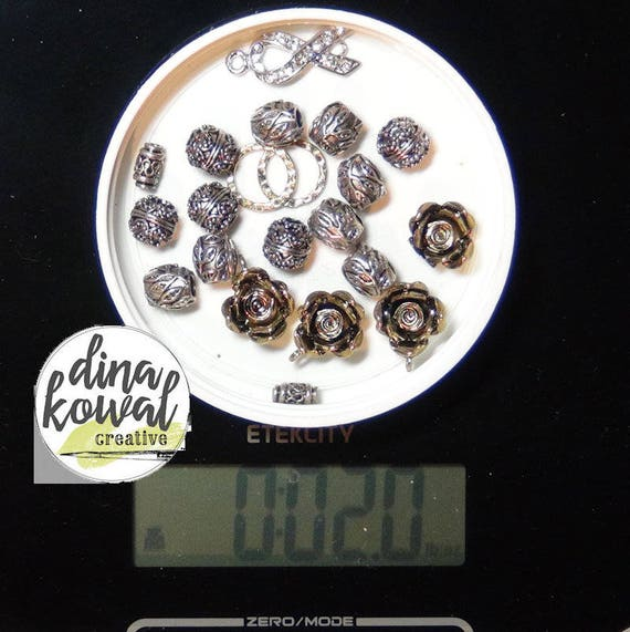 Destash - 2 oz. quality bead mix - metal