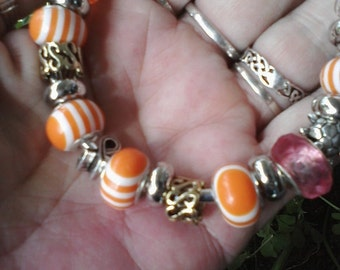Bipolar disorder awareness,  Euro style bracelet