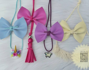 Solar color Changing Faux Leather Bows ~ Clip or Headbands ~ Nylon ~ Elastic ~ Newborn ~ Toddler ~ Girls Hair Accessories ~