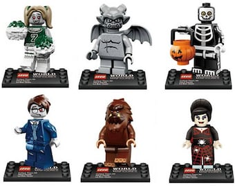 Batch of 6 figures Lego monsters customized Zombies
