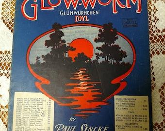 """1932  Vintage sheet music """"The Glow-worm"""" by Gluhwurmchen"""