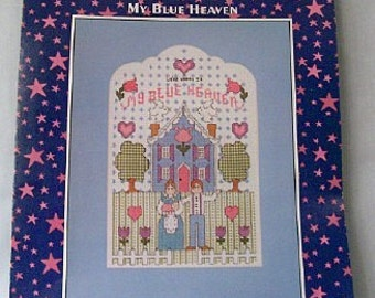 My Blue Heaven cross stitch leaflet