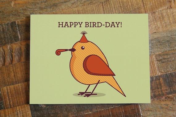 Cute birthday card happy bird day funny birthday like this item bookmarktalkfo Choice Image