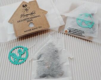 Personalized Housewarming Tea bags favors