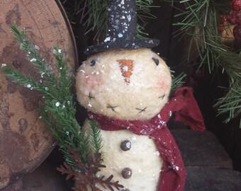 Primitive Snowman PATTERN Little Sparkle