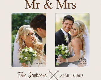 Mr. and Mrs. Double Photo Frame