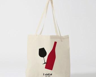 X123Y Tote bag wine, canvas bag, cotton bag, bag races, courses bag, tote bag, bag market, computer bag, evening bag, wine bag
