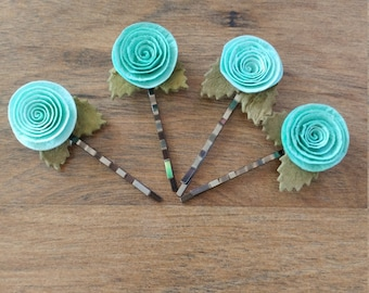 Twisted Rose Hair Accessories 2pcs