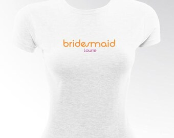 Orange crush bridesmaid tshirt