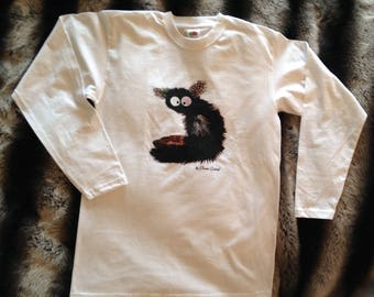 Long sleeves with lemur T-shirt
