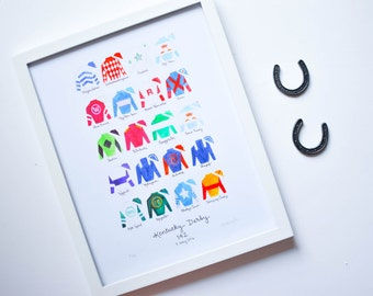 Kentucky Derby 142 11x14 Jockey Silks Signed Print