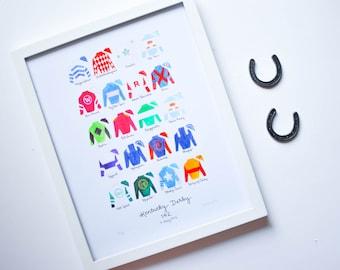 Kentucky Derby 142 (2016) 11x14 Jockey Silks Signed Print