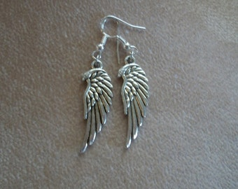 American Eagle Wing Earrings, Bird Head Wings, Harley Girl,  Unisex Jewelry by Brenda's Beading on Etsy
