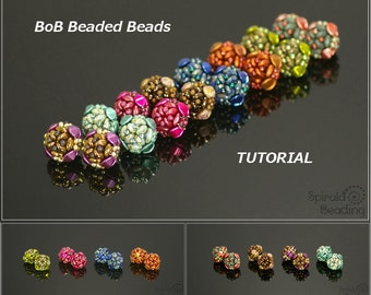 BoB Beaded Beads - Earrings, Bracelet, Necklace - PDF beading pattern