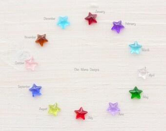Add a Star Birthstone Charm for Locket, Floating Charms, Charms for Locket, Floating Crystal Star Charms