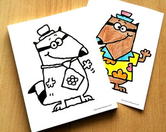COLORING RACCOONS NOTEPAD for Kids!