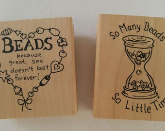 DISCONTINUED *** RUBBER STAMPS for Beaders!!