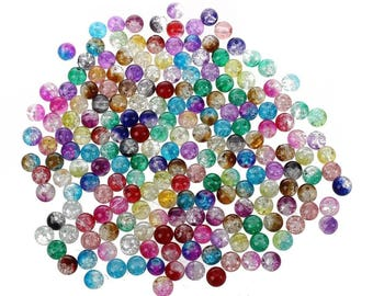 x 40 mixed multicolor gradient glass 8 mm beads
