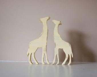 Giraffes Wood Animal Nursery Decor, Zoo nursery, Animal Decor, Baby animal nursery