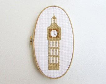London Big Ben - Modern cross stitch pattern PDF - Instant download