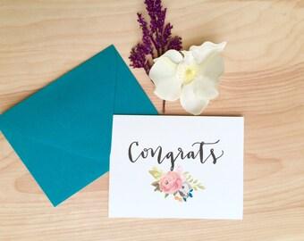 Congrats / Floral Congratulations Card