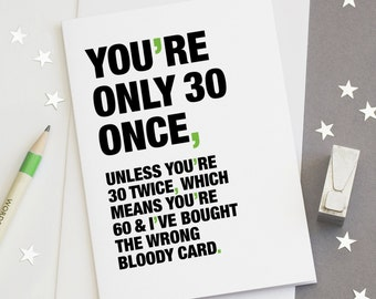 60th birthday card funny 60th card sarcastic 60th card 30th birthday card funny 30th card sarcastic 30th card happy 30th birthday card bookmarktalkfo Images