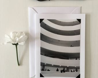 Guggenheim photo blank art greeting card