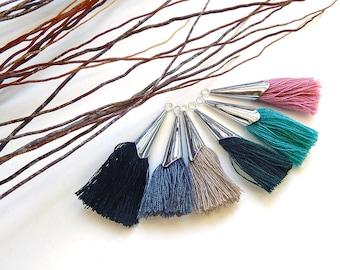 2 metal choice colors 40/45 mm cap tassels