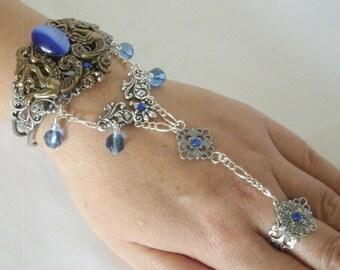 Dragon Slave Bracelet, gothic jewelry medieval jewelry renaissance jewelry art nouveau art deco bracelet victorian bracelet hand chain