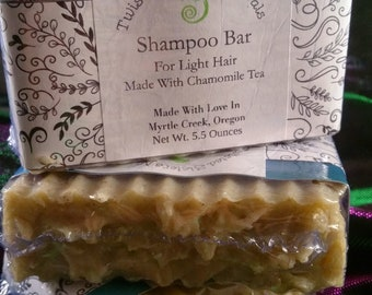 Shampoo Bar for Light Hair or Natural Highlights Now With Silk 5 ounces
