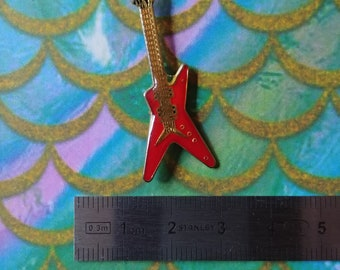 Vintage red electric guitar pin enamel pins