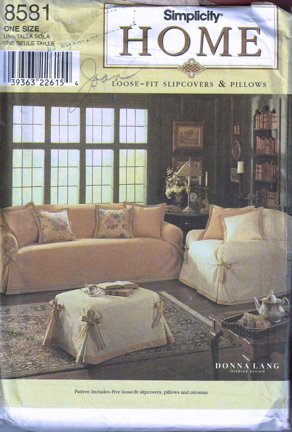 Sofa Cover sewing Pattern - Arm Chair Cover Sewing Pattern ...