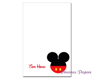 Personalized red Mickey Mouse note pads Personalized Mickey Mouse gift Personalized Mickey Mouse notepads