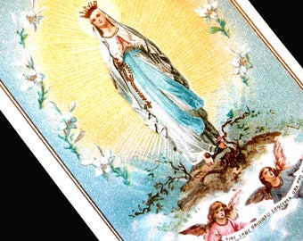 Vintage Italian Immaculate Conception Holy Card