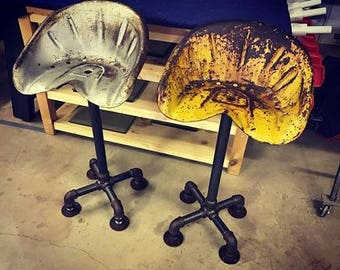 """Reclaimed Tractor Seat Stool 30""""H (FREE SHIPPING)"""