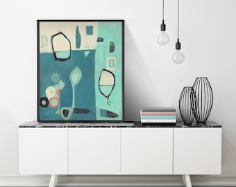 Large Art, Mid Century Modern Art, Large Wall Art, Abstract Print, Contemporary Art
