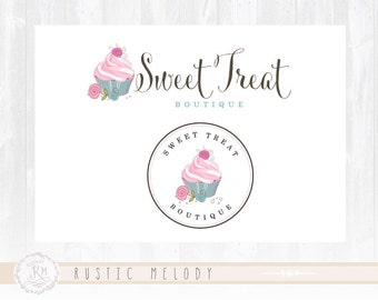 Cupcake Logo Design Bakery Logo Sweets Logo Boutique Logo Watermark