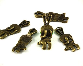 X 10 bunnies cache cache 33mm A - B♥