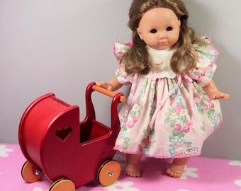"Vintage Zapf german 18"" vinyl Balica toddler girl collectors doll in original dress 1990s"
