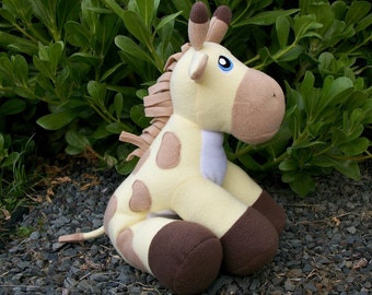 Large Yellow Huggable Giraffe Plush - Made to Order