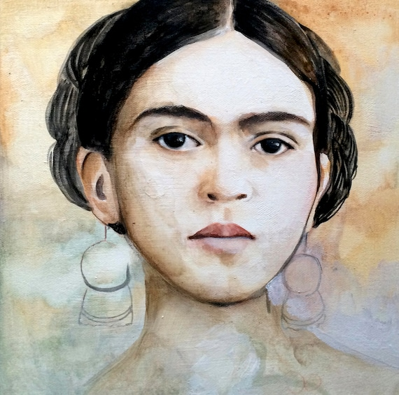 Mexican painter inspired portrait