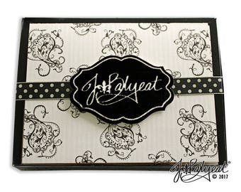 Blank Note Cards - Paisley - Note Cards - Boxed Set of 10