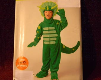 Uncut Simplicity Pattern 0893 Toddlers or Child's Dinosaur Costume