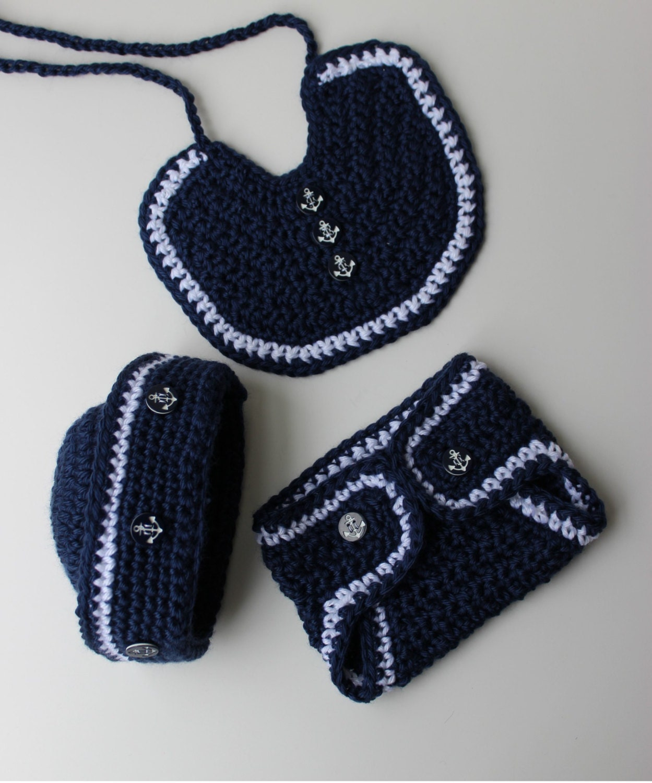 Crochet Sailor Hat Pattern Crochet Bib Pattern Crochet