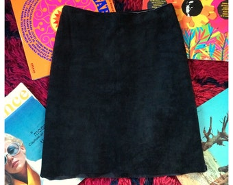 Black suede skirt xs/s