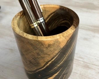 Black and White Ebony Pencil Cup