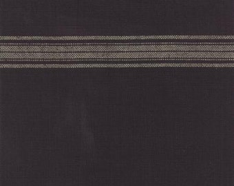 "Bunting 16"" Toweling Black  | Kitchen Towel fabric | Moda 920 182"