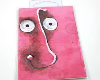 Pink Monster original outsider art folk art