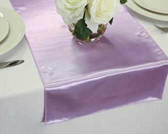 Lavender Satin Table Runner   Wedding Table Runners